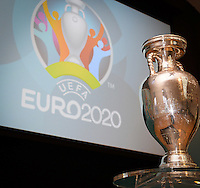 20161216 - AMSTERDAM , NETHERLANDS : the Henri Delaunay Cup pictured during the UEFA EURO 2020 Host City Logo Launch event at the Hermitage Amsterdam Venue in Amsterdam , The Netherlands , Friday 16 th December 2016 . PHOTO UEFA.COM | SPORTPIX.BE | DAVID CATRY