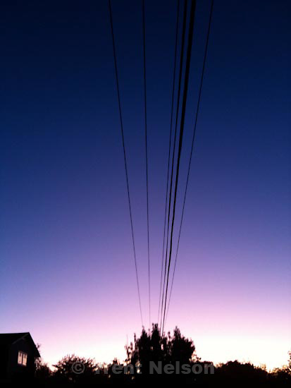 . Wednesday, September 23 2009.sunset and powerlines, bryan ave