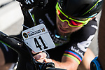 Mark Cavendish (GBR) Dimension Data attaches his race plate before the Tour de France Saitama Critérium 2017 held around the streets os Saitama, Japan. 4th November 2017.<br /> Picture: ASO/Pauline Ballet | Cyclefile<br /> <br /> <br /> All photos usage must carry mandatory copyright credit (© Cyclefile | ASO/Pauline Ballet)