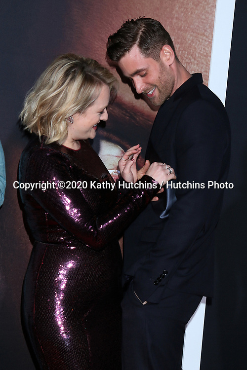 """LOS ANGELES - FEB 24:  Elisabeth Moss and Oliver Jackson-Cohen at the """"The Invisible Man"""" Premiere at the TCL Chinese Theater IMAX on February 24, 2020 in Los Angeles, CA"""