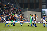 Italy celebrates at the end of the match<br /> Reggio Emilia 22-06-2019 Stadio Città del Tricolore <br /> Football UEFA Under 21 Championship Italy 2019<br /> Group Stage - Final Tournament Group A<br /> Belgium - Italy<br /> Photo Cesare Purini / Insidefoto