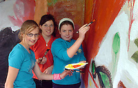 Taking part in  the Nagle Rice School Milltown  day of art on Friday were from left, Jessica Mangan, Laura Hayes and Roisin Hurley.<br />