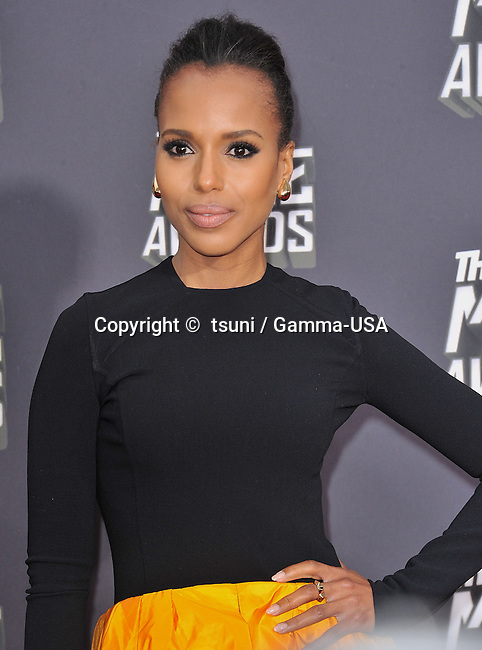 Kerry Washington arriving at the MTV Movie Awards 2013 on the Sony Studio Lot in Los Angeles.