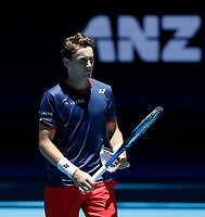 5th January 2020; RAC Arena, Perth, Western Australia; ATP Cup Australia, Perth, Day 3; Italy versus Norway; Casper Ruud of Norway after he defeated Fabio Fognini of Italy in straight sets - Editorial Use