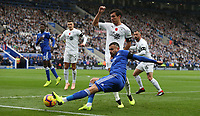 Leicester City's Rachid Ghezzal and Burnley's Jack Cork<br /> <br /> Photographer Stephen White/CameraSport<br /> <br /> The Premier League - Saturday 10th November 2018 - Leicester City v Burnley - King Power Stadium - Leicester<br /> <br /> World Copyright &copy; 2018 CameraSport. All rights reserved. 43 Linden Ave. Countesthorpe. Leicester. England. LE8 5PG - Tel: +44 (0) 116 277 4147 - admin@camerasport.com - www.camerasport.com