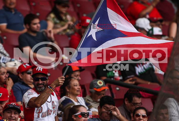 Aficion de Puerto Rico  , durante el partido de beisbol de la Serie del Caribe entre Republica Dominicana vs Puerto Rico en el Nuevo Estadio de los Tomateros en Culiacan, Mexico, Sabado 4 Feb 2017. Foto: Luis Gutierrez/NortePhoto.com<br /> <br /> Actions, during the Caribbean Series baseball match between Dominican Republic vs Puerto Rico at the New Tomateros Stadium in Culiacan, Mexico, Saturday 4 Feb 2017. Photo: Luis Gutierrez / NortePhoto.com