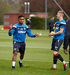 07.05.2018 Rangers training: Alfredo Morelos and Ross McCrorie