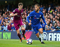 Eden Hazard of Chelsea is tracked by John Stones of Manchester City <br /> Calcio Chelsea - Manchester City Premier League <br /> Foto Phcimages/Panoramic/insidefoto