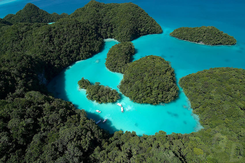 Aerial of Milky Way in Palau, Micronesia, this is a very favorite spot for Tourist