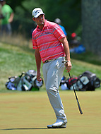 Potomac, MD - July 2, 2017: Marc Leishman putts on the 9th hole during Round 4 of professional play at the Quicken Loans National Tournament at TPC Potomac at Avenel Farm in Potomac, MD, July 2, 2017.  (Photo by Don Baxter/Media Images International)