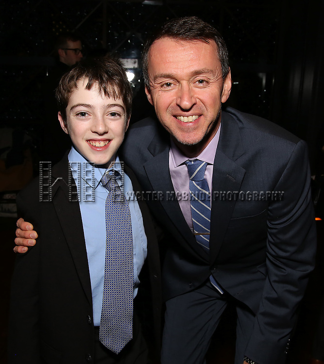 Noah Hinsdale and Andrew Lippa attend the DGF Reception for Andrew Lippa & Friends at Landmarc on February 1, 2017 in New York City.