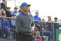 Tiger Woods (USA) tees off the 13th tee during Thursday's Round 1 of the 148th Open Championship, Royal Portrush Golf Club, Portrush, County Antrim, Northern Ireland. 18/07/2019.<br /> Picture Eoin Clarke / Golffile.ie<br /> <br /> All photo usage must carry mandatory copyright credit (© Golffile | Eoin Clarke)