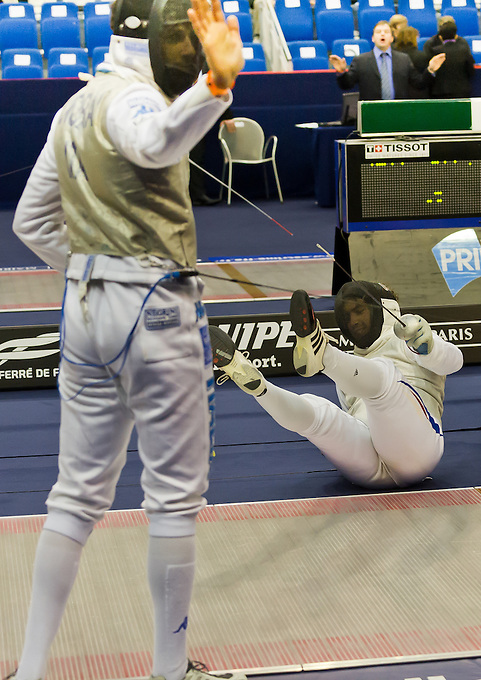 CIP Challenge International de Paris mens World Cup fencing competition and Olympic qualification for individuals and teams, on Saturday and Sunday 28th and 29th January 2012 at the Stade Pierre de Courbertin, Paris. Saturday 28th January 2012