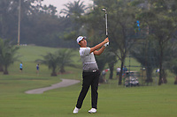 Byeonghun An (Asia) on the 3rd fairway during the Saturday Foursomes of the Eurasia Cup at Glenmarie Golf and Country Club on the 13th January 2018.<br /> Picture:  Thos Caffrey / www.golffile.ie