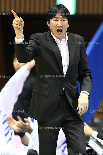 Kimikazu Suzuki (Aisin),<br /> MAY 25, 2015 - Basketball : <br /> National Basketball League &quot;NBL&quot; Playoff FINALS 2014-2015 <br /> GAME 3 match between <br /> TOYOTA ALVARK TOKYO 69-81 AISIN SeaHorses Mikawa<br /> at 2nd Yoyogi Gymnasium, Tokyo, Japan. <br /> (Photo by Shingo Ito/AFLO SPORT)