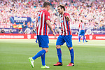 Atletico de Madrid Legends's Fernando Torres and Diego Forlan during friendly match to farewell  to Vicente Calderon Stadium in Madrid, May 28, 2017. Spain.<br /> (ALTERPHOTOS/BorjaB.Hojas)