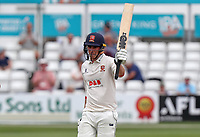 Daniel Lawrence of Essex celebrates scoring fifty runs during Essex CCC vs Warwickshire CCC, Specsavers County Championship Division 1 Cricket at The Cloudfm County Ground on 15th July 2019