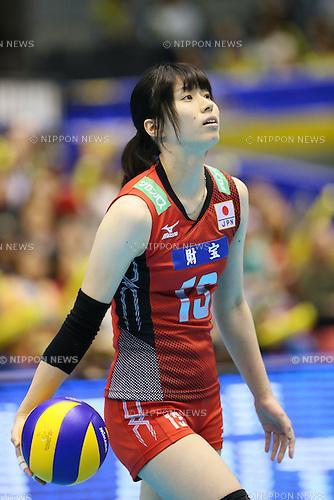 Risa Shinnabe (JPN), <br /> NOVEMBER 15, 2013 - Volleyball : <br /> FIVB World Grand Champions Cup <br /> women's match Japan 3-0 Thailand <br /> at Tokyo Metropolitan Gymnasium, Tokyo, Japan. <br /> (Photo by YUTAKA/AFLO SPORT) [1040]