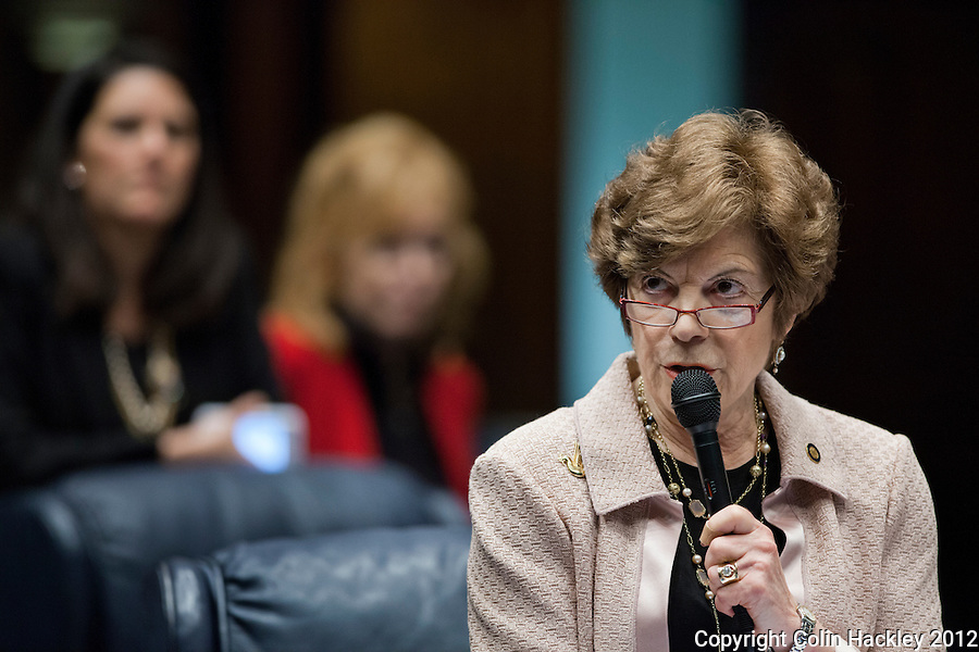 TALLAHASSEE, FLA.3/9/12-SESSIONEND030912 CH-Sen. Nan Rich, D-Weston, speaks during the final day of the regular scheduled 2012 legislative session, Friday at the Capitol in Tallahassee...COLIN HACKLEY PHOTO