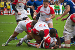 biarritz. pais vasco. rugby<br /> rugby match during the rugby french league, 02-03-14<br /> En la imagen :<br /> genevois (16) van staden (17)<br /> photocall3000 / rme