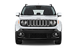 Car photography straight front view of a 2015 JEEP Renegade Latitude Door Sport Utility Vehicle Front View