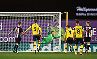 4th February 2020; Kassam Stadium, Oxford, Oxfordshire, England; English FA Cup Football; Oxford United versus Newcastle United; Liam Kelly of Oxford scores from a free kick, beating Karl Darlow of Newcastle in 85th minute 1-2