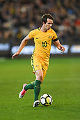 June 13th 2017, Melbourne Cricket Ground, Melbourne, Australia; International Football Friendly; Brazil versus Australia; Robbie Kruse of Australia breaks forward with the ball