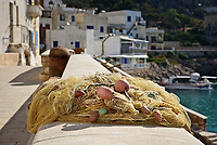 fishing net in levanzo, Egadi islands