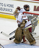 Corinne Boyles (BC - 29), Kristin Regan (BC - 6), Chelsea Furlani (Vermont - 10) - The University of Vermont Catamounts defeated the Boston College Eagles 5-1 on Saturday, November 7, 2009, at Conte Forum in Chestnut Hill, Massachusetts.