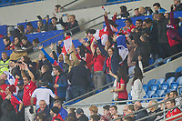 Panama fans celebrate their side's late equaliser during the International Friendly match between Wales and Panama at the Cardiff City Stadium, Cardiff, Wales on 14 November 2017. Photo by Mark Hawkins.