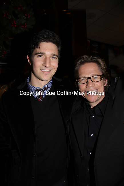 Jake Silbermann stars in Dracula & Jack Noseworthy stops by Sardi during the intermission of Memphiaattend the opening night of Dracula on January 5, 2011 at the Little Shubert Theatre, New York City, New York and after party at Sardis. (Photo by Sue Coflin/Max Photos)