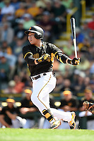 Pittsburgh Pirates shortstop Jung Ho Kang (27) during a Spring Training game against the New York Yankees on March 5, 2015 at McKechnie Field in Bradenton, Florida.  New York defeated Pittsburgh 2-1.  (Mike Janes/Four Seam Images)
