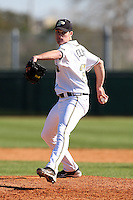 February 26, 2010:  Pitcher Sean Collins of the Purdue Boilermakers during the Big East/Big 10 Challenge at Raymond Naimoli Complex in St. Petersburg, FL.  Photo By Mike Janes/Four Seam Images