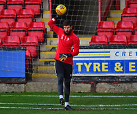 Lincoln City's Josh Vickers during the pre-match warm-up<br /> <br /> Photographer Andrew Vaughan/CameraSport<br /> <br /> The EFL Sky Bet League Two - Crewe Alexandra v Lincoln City - Saturday 11th November 2017 - Alexandra Stadium - Crewe<br /> <br /> World Copyright &copy; 2017 CameraSport. All rights reserved. 43 Linden Ave. Countesthorpe. Leicester. England. LE8 5PG - Tel: +44 (0) 116 277 4147 - admin@camerasport.com - www.camerasport.com