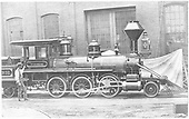 Engineer's-side builder's photo of D&amp;RG #3 &quot;Shou-wa-no&quot; at Baldwin Locomotive Works.<br /> D&amp;RG  Philadelphia, PA  Taken by , Baldwin Locomotive Works - 1871
