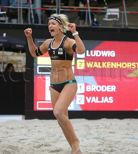 09.08.2013. Berlin, Germany. Berlin Smart Grand Slam Beach volleyball  Tournament FIVB Laura Ludwig ger