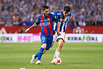 Deportivo Alaves's midfielder Manuel Alejandro Garcia  and FC Barcelona's forward Leo Messi during Copa del Rey (King's Cup) Final between Deportivo Alaves and FC Barcelona at Vicente Calderon Stadium in Madrid, May 27, 2017. Spain.<br /> (ALTERPHOTOS/BorjaB.Hojas)