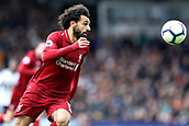 17th March 2019, Craven Cottage, London, England; EPL Premier League football, Fulham versus Liverpool; Mohamed Salah of Liverpool