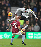 Derby County's Fikayo Tomori in action with Aston Villa's Alan Hutton<br /> <br /> Photographer Mick Walker/CameraSport<br /> <br /> The EFL Sky Bet Championship - Derby County v Aston Villa - Saturday 10th November 2018 - Pride Park - Derby<br /> <br /> World Copyright &copy; 2018 CameraSport. All rights reserved. 43 Linden Ave. Countesthorpe. Leicester. England. LE8 5PG - Tel: +44 (0) 116 277 4147 - admin@camerasport.com - www.camerasport.com