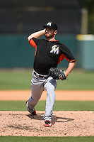 Miami Marlins pitcher Sam Dyson (36) during a Spring Training game against the Detroit Tigers on March 25, 2015 at Joker Marchant Stadium in Lakeland, Florida.  Detroit defeated Miami 8-4.  (Mike Janes/Four Seam Images)