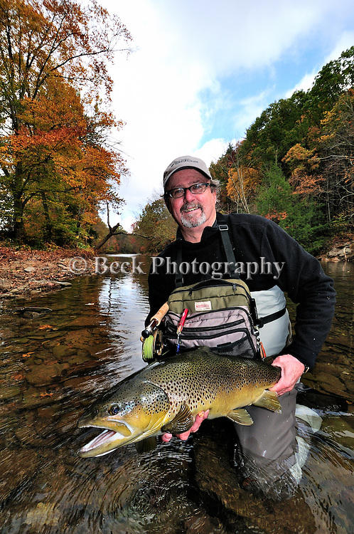 Marc Bale and a nice fall brown trouit
