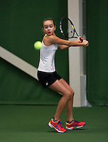 Almere, Netherlands, December 6, 2015, Winter Youth Circuit, Bente Spee (NED)<br /> Photo: Tennisimages/Henk Koster