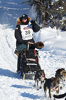 Ken Anderson on Long Lake at the Re-Start of the 2012 Iditarod Sled Dog Race