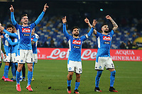 Lorenzo Insigne of Napoli celebrate at the end of the match<br /> Napoli 26-01-2020 Stadio San Paolo <br /> Football Serie A 2019/2020 SSC Napoli - Juventus FC<br /> Photo Cesare Purini / Insidefoto