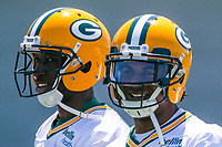 Green Bay Packers wide receiver Geronimo Allison (81) and wide receiver Davante Adams (17) during an OTA on June 1, 2017 at Clark Hinkle Field in Green Bay, Wisconsin. (Brad Krause/Krause Sports Photography)