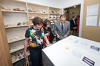 The Dieter Cosman Shell Collection is formally dedicated by family members as Oxy students, faculty, and staff celebrate, followed by a luncheon, April 29, 2016.<br /> Dieter Cosman P'72 assembled the collection, which includes more than 117,000 specimens of gastropod shells and bivalves, with the help of friends and family over many decades. The collection was gifted to Occidental College by the Cosman family.<br /> (Photo by Marc Campos, Occidental College Photographer)