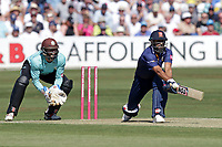 Ravi Bopara in batting action for Essex as Ben Foakes looks on from behind the stumps during Essex Eagles vs Surrey, Vitality Blast T20 Cricket at The Cloudfm County Ground on 5th August 2018