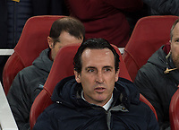Arsenal's manager Unai Emery before the UEFA Europa League match between Arsenal and Rennes at the Emirates Stadium, London, England on 14 March 2019. Photo by Andrew Aleksiejczuk / PRiME Media Images.