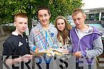 Students from Gaelcolaiste Chiarrai, Tralee, who received their Junior Cert results on Wednesday morning were l-r: Seamus O Luanaigh, Aran O Duibhghiolla, Cliona Ni Mhorain, Jason O Cathail.
