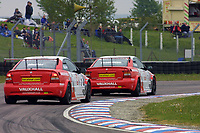 Round 3 of the 2002 British Touring Car Championship. #2 Yvan Muller (FRA). Vauxhall Motorsport. Vauxhall Astra Coupé. #3 James Thompson (GBR). Vauxhall Motorsport. Vauxhall Astra Coupé.